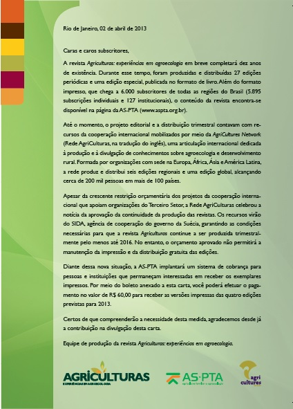 Revista Agriculturas