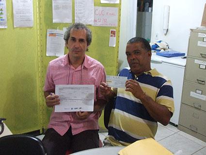 Diretor do Colégio Estadual Teófilo Moreira e Agricultor Pedro Mesquita
