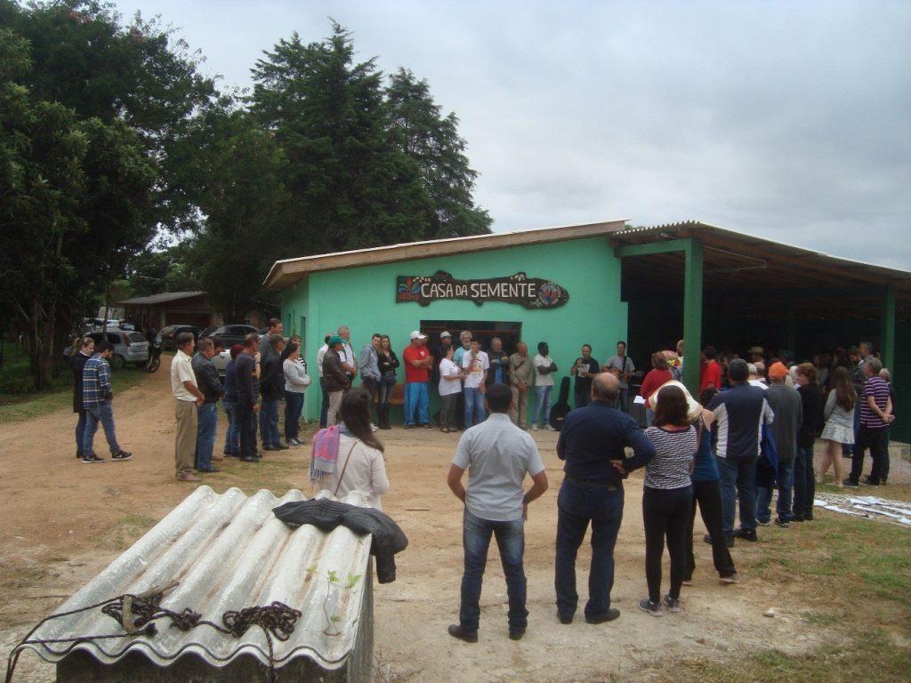 inauguração da casa da semente
